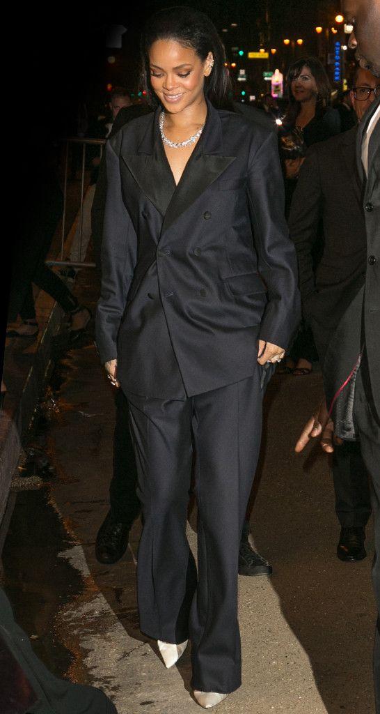 Rihanna From 2015 Grammys After Party Looks Rihanna Street Style Rihanna Party Looks