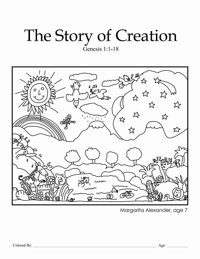 24 Days Of Creation Coloring Page in 2020 (With images ...