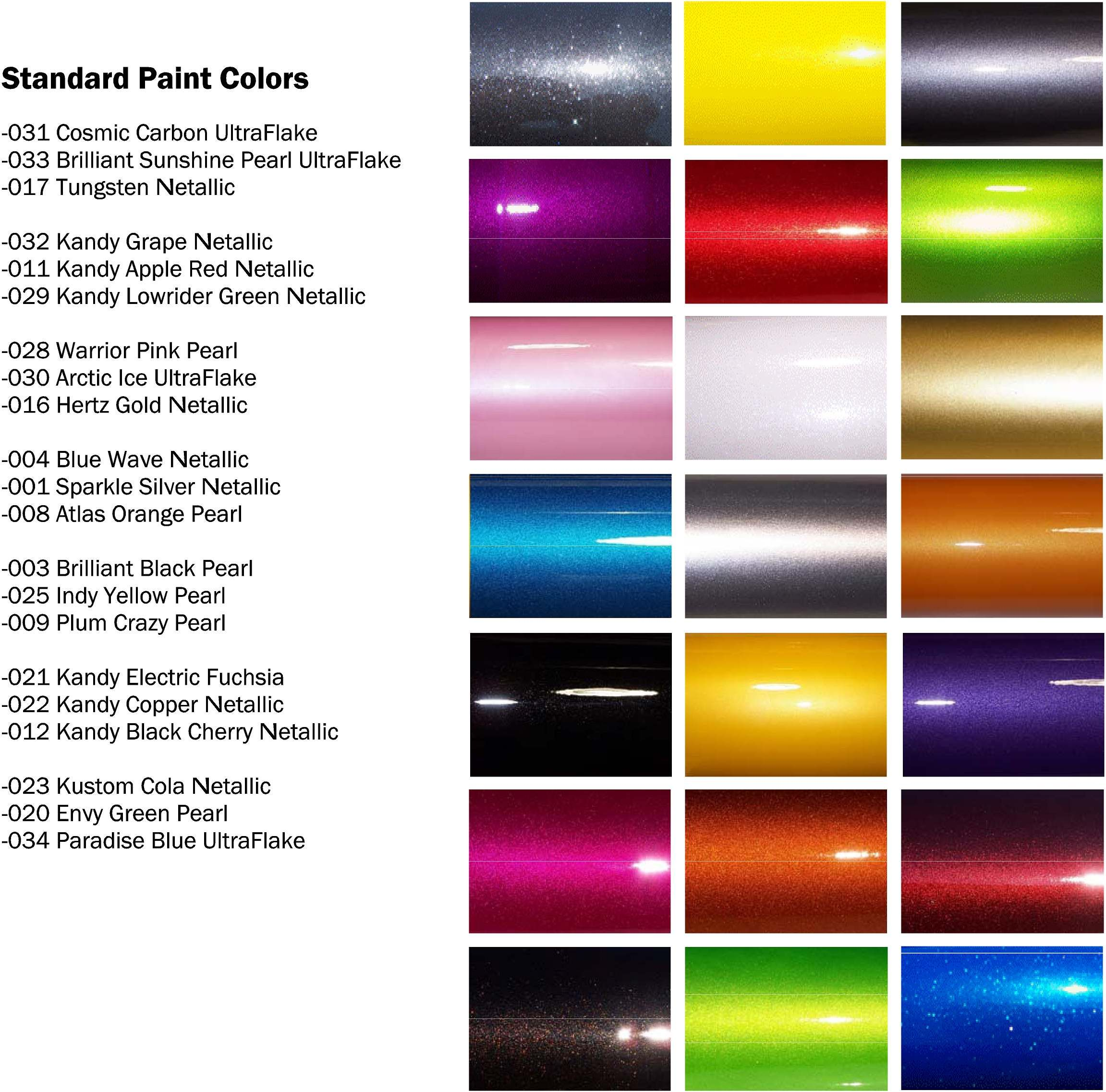 EW Branded Color Paint Chart  Eastwood