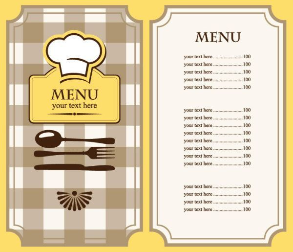 Image result for food menu template kids french Pinterest - free dinner menu templates