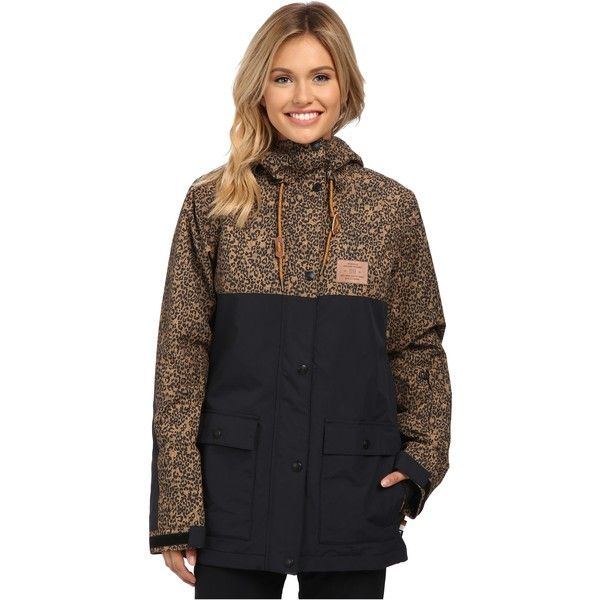 c02792c656c7 DC Cruiser J Snow Jacket Women's Coat, Black featuring polyvore, fashion,  clothing, outerwear, coats, black, print coat, insulated coat, waterproof  coat, dc ...