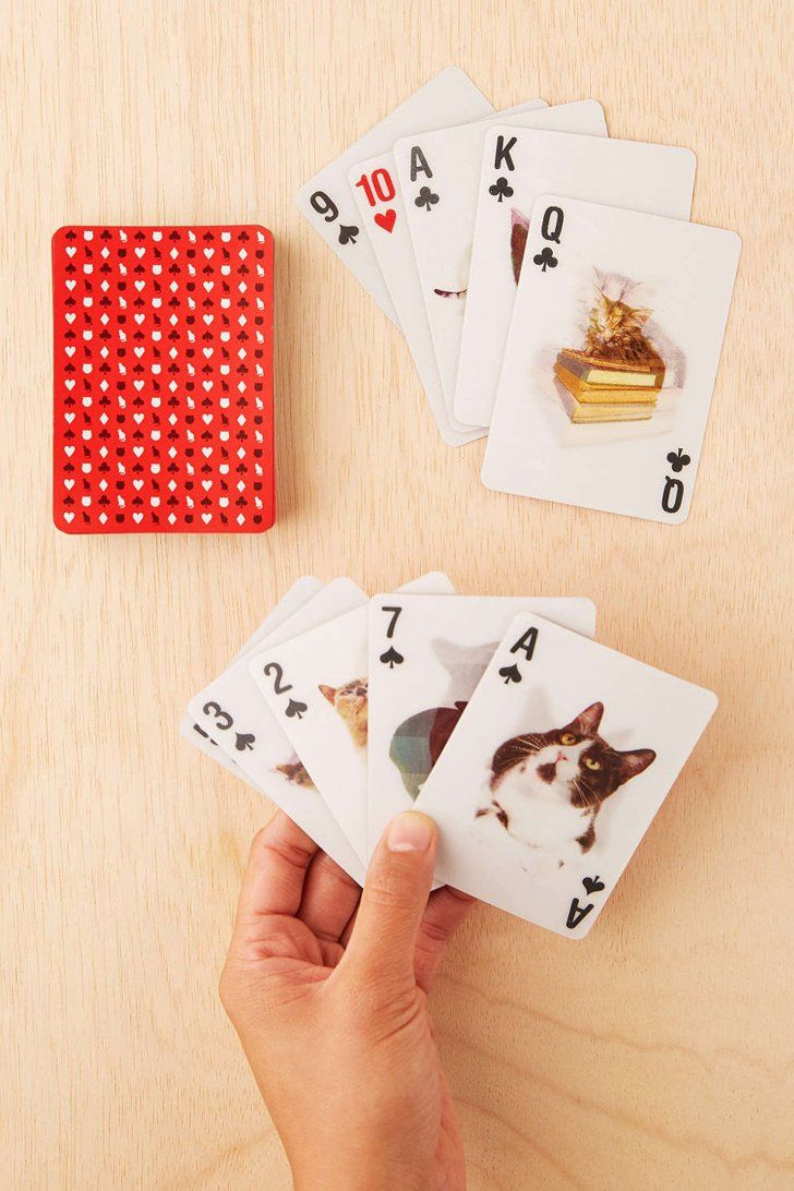 Pin for Later: 90+ Clever White Elephant Gifts That Won't Break the Bank  3-D Cat Playing Card Set ($8)