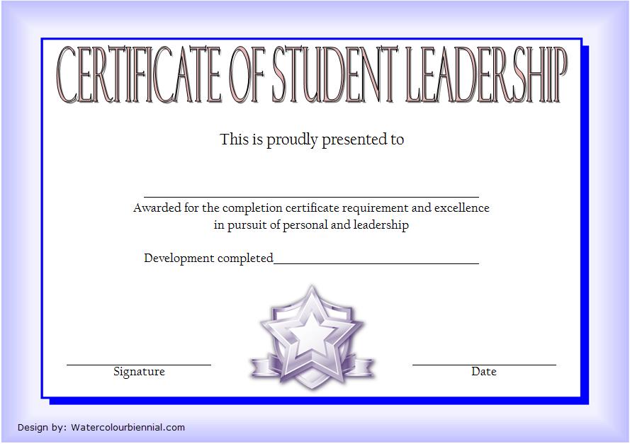Student Leadership Certificate Template 9 FREE