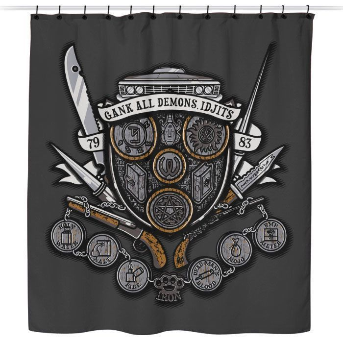Winchesters Crest Shower Curtain Tank Man Supernatural Tshirt