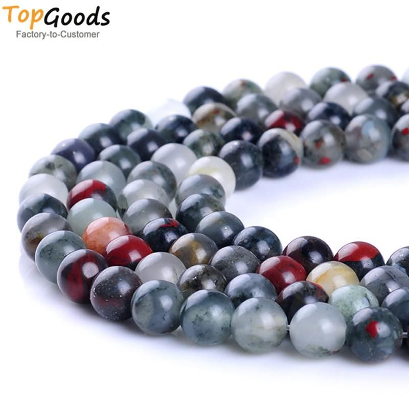 4//10mm Round Loose Beads Strand for Bracelet Necklace Earring Jewelry Making