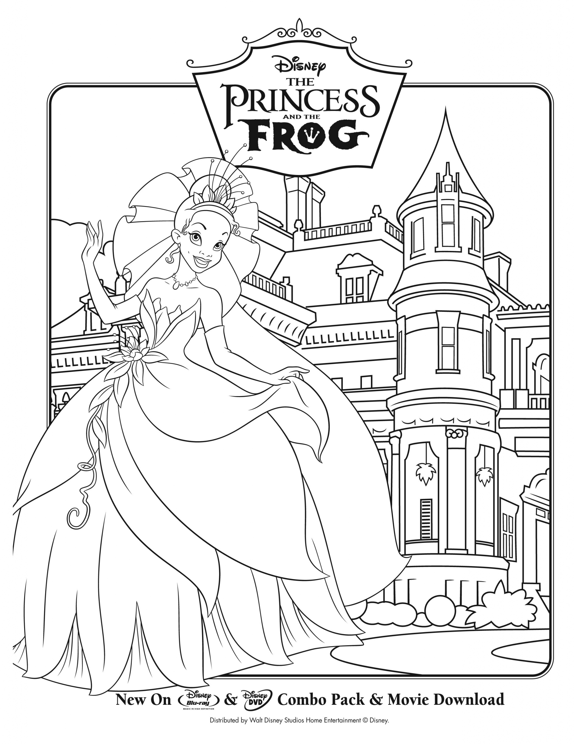 Princess And The Frog Coloring Page Youngandtae Com In 2020 Disney Princess Coloring Pages Disney Princess Colors Frog Coloring Pages