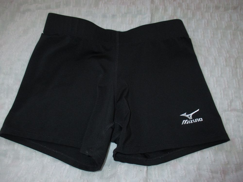 Mizuno Black Girls Volleyball Spandex Shorts 3 5 Size Small Mizuno Volleyball Spandex Shorts Volleyball Spandex Volleyball Shorts