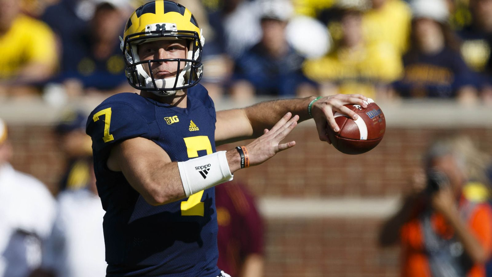 Harbaugh named starting QB but won't announce it