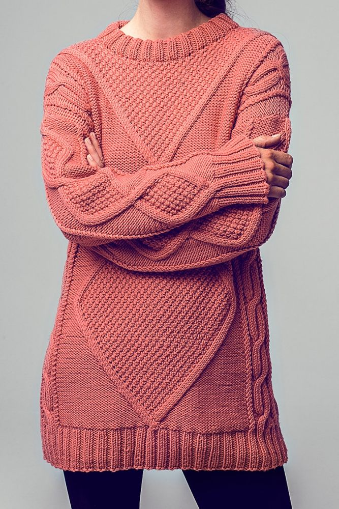 Kostenlose Anleitung Long Pullover Initiative Handarbeit