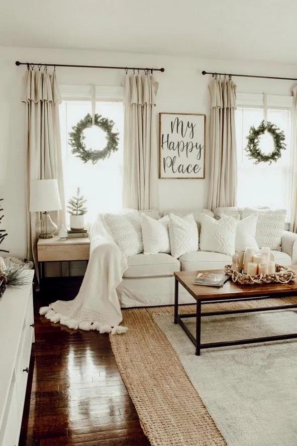30 Modern Rustic Living Room Ideas #modernrusticdecor ... on Farmhouse Bedroom Curtain Ideas  id=16908