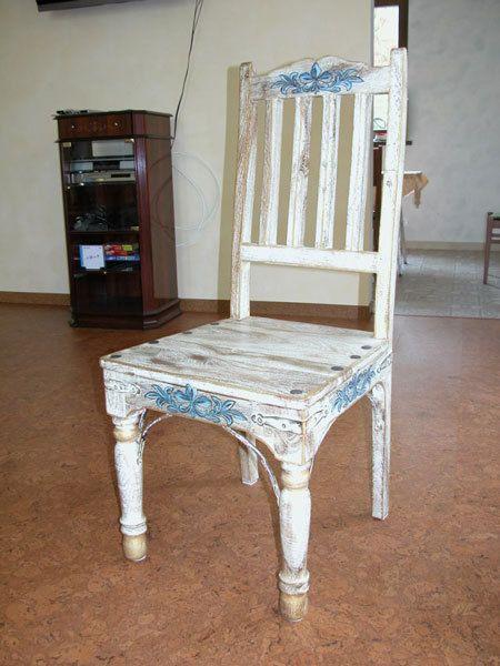 Декор своими руками старый стул