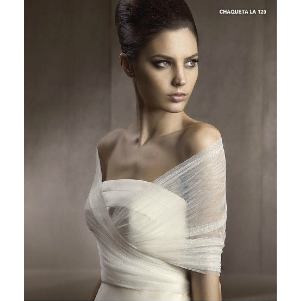 Tulle Off-the-Shoulder Wraps Bridal Wedding Jacket