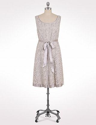 Plus Size Belted Lace Dress   Dressbarn