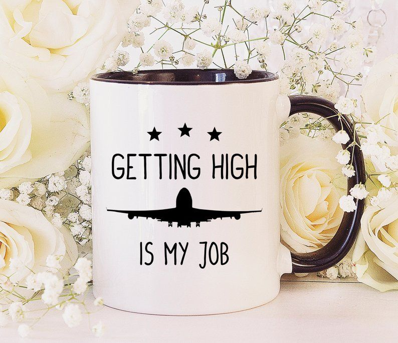 Airplane Pilot Coffee Mug, Pilot Gift, Aviation Gift
