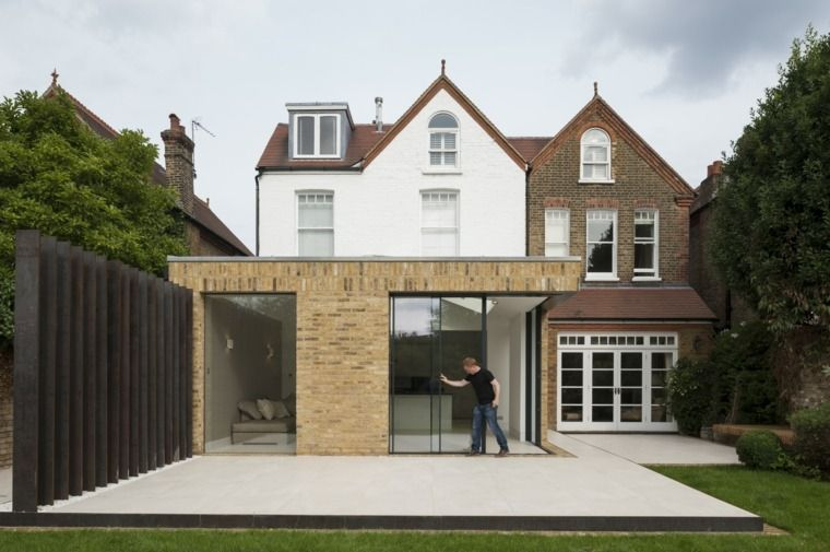 extension bois sur maison ancienne recherche google. Black Bedroom Furniture Sets. Home Design Ideas