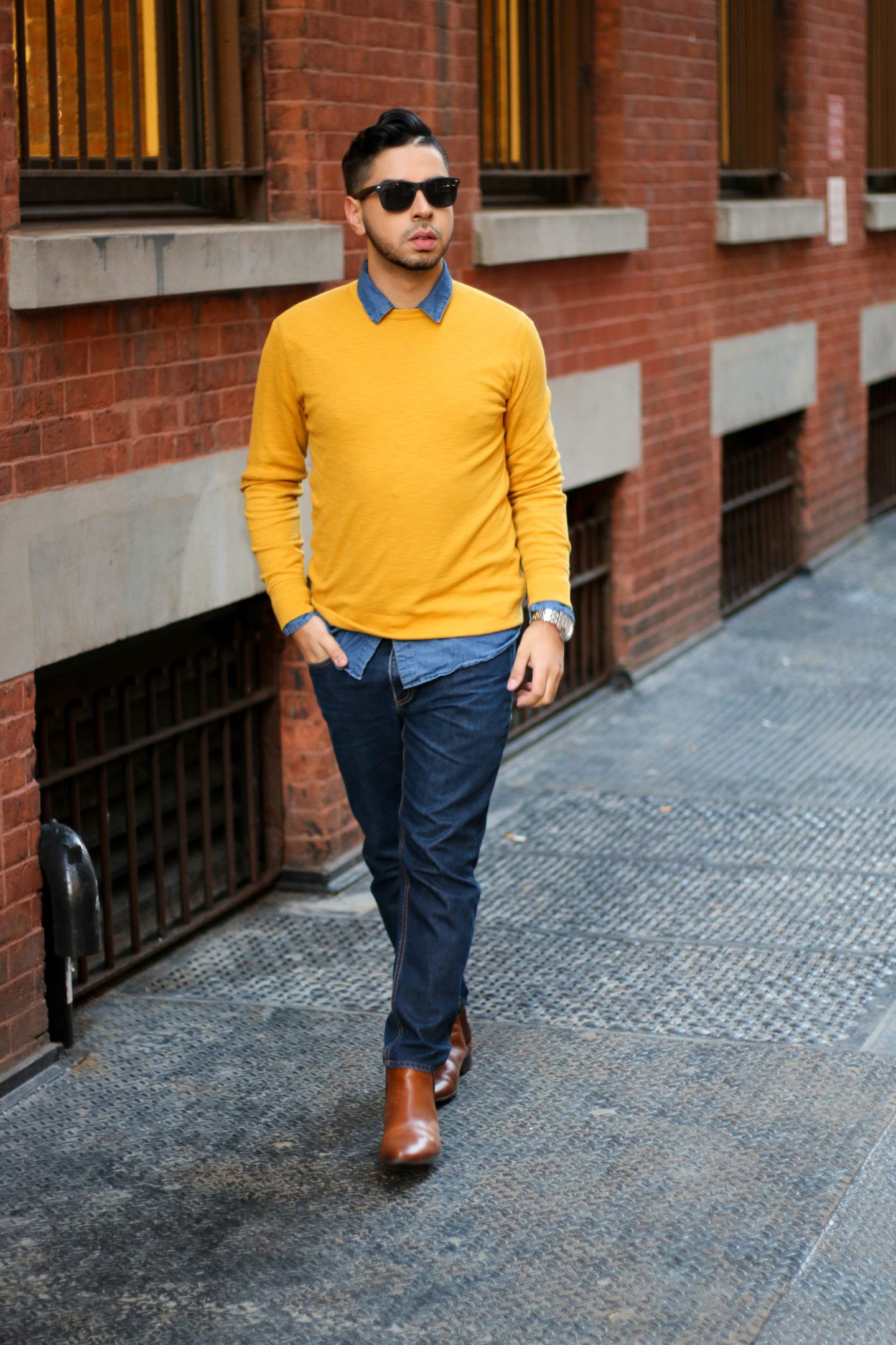 Spring Fashion Trends Men's 2017 | Yellow sweater