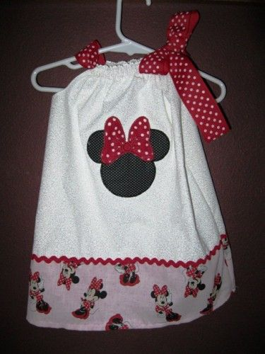 NOW on SALE 5.00 OFF Pink Minnie Mouse Dress Very few are available. | MadeAtNanas - Clothing on ArtFire