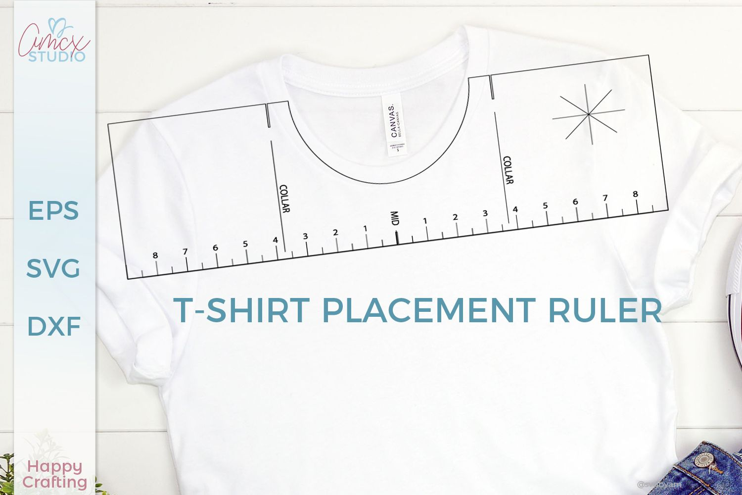T Shirt Placement Ruler Svg Svg By Amcx Studio Ruler Placement Svg