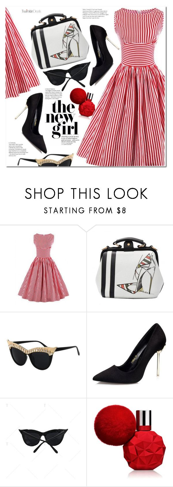 """""""Vintage striped Pin Up dresss"""" by duma-duma ❤ liked on Polyvore featuring vintage"""