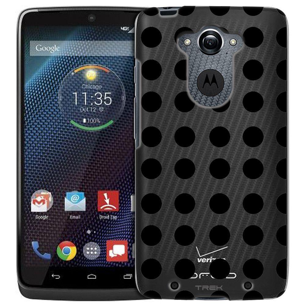Motorola Droid Turbo Black Dot Print Case