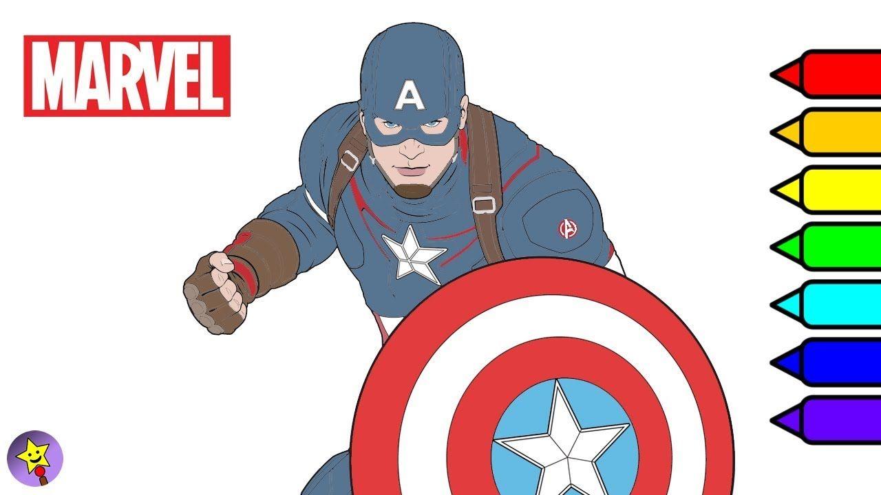 Digital coloring of Captain America Captain America coloring book ...