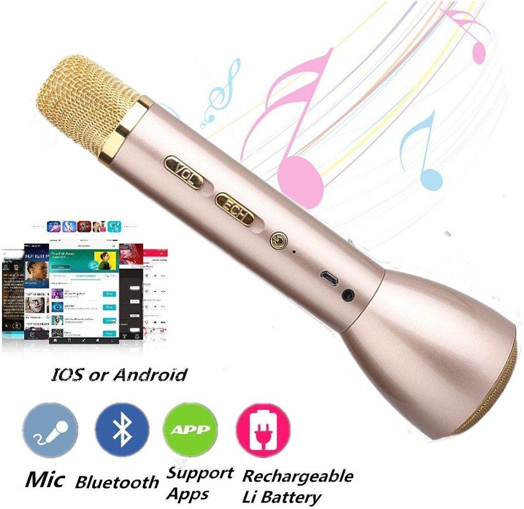 Wireless Microphone Karaoker,Portable Cellphone Karaoke