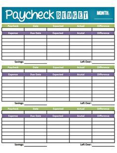 Livin Paycheck To Paycheck Free Printable Budget Form With