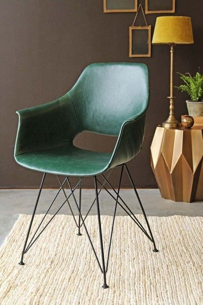 Prentice Faux Leather Dining Chair  Forest Green  The Paddocks Interesting Green Leather Dining Room Chairs Design Inspiration