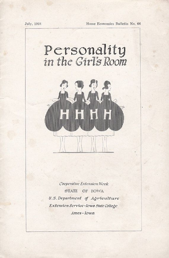 Personality in the Girl's Room July 1924 Home Economics Bulletin No 66 by Alice Dodge