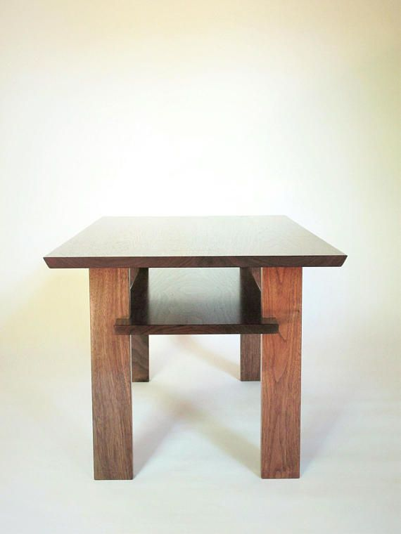 Solid Walnut Narrow Coffee Table For Small Living Room Custom Wood Furniture
