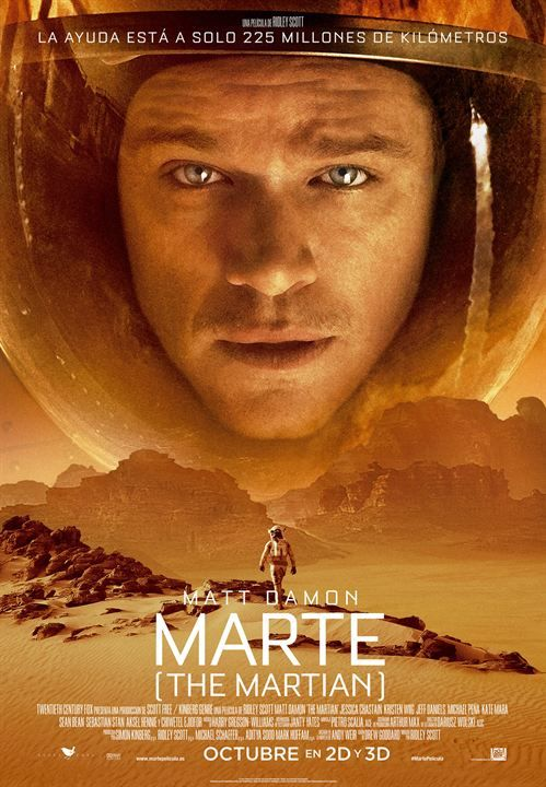 Marte (The Martian)  Cartel Películas en español Pinterest - what is presumed