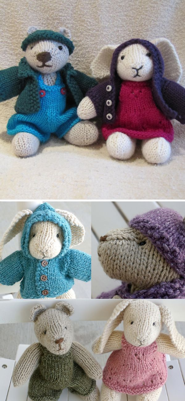 Stunning Knitted Animals | Beanie knitting patterns free ...