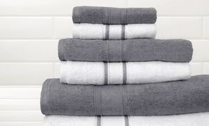 Quick Dry 6 Piece 100 Egyptian Cotton Towel Set With Two Bath