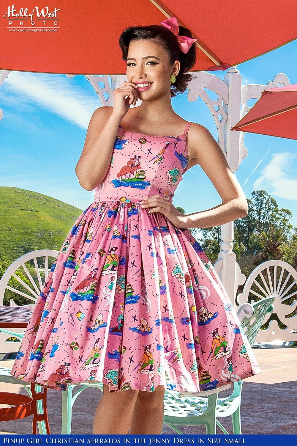 dddf70490b9ec Pinup Couture -Jenny Dress in Neverland Sateen