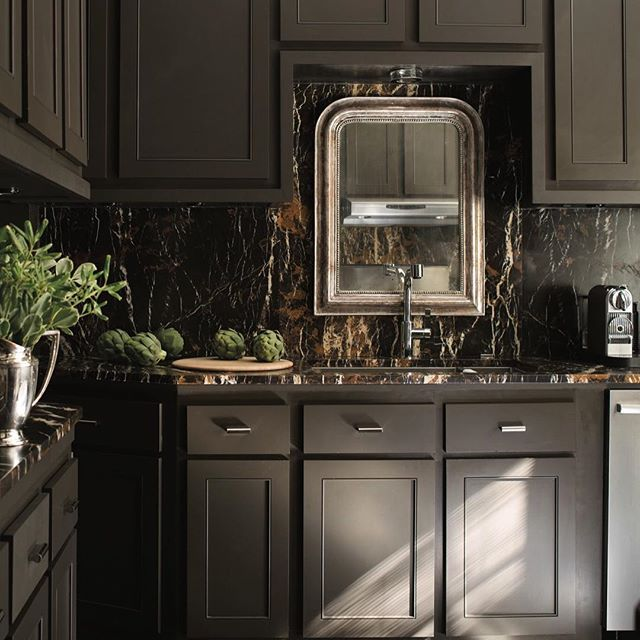 """Paint Cabinets Brown: """"Dark Colors In Small Rooms Blur The Boundaries… It Goes"""