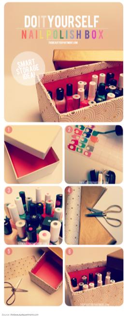 Smart Way To Store Nail Polish Diy Manicure Diy Nail Polish