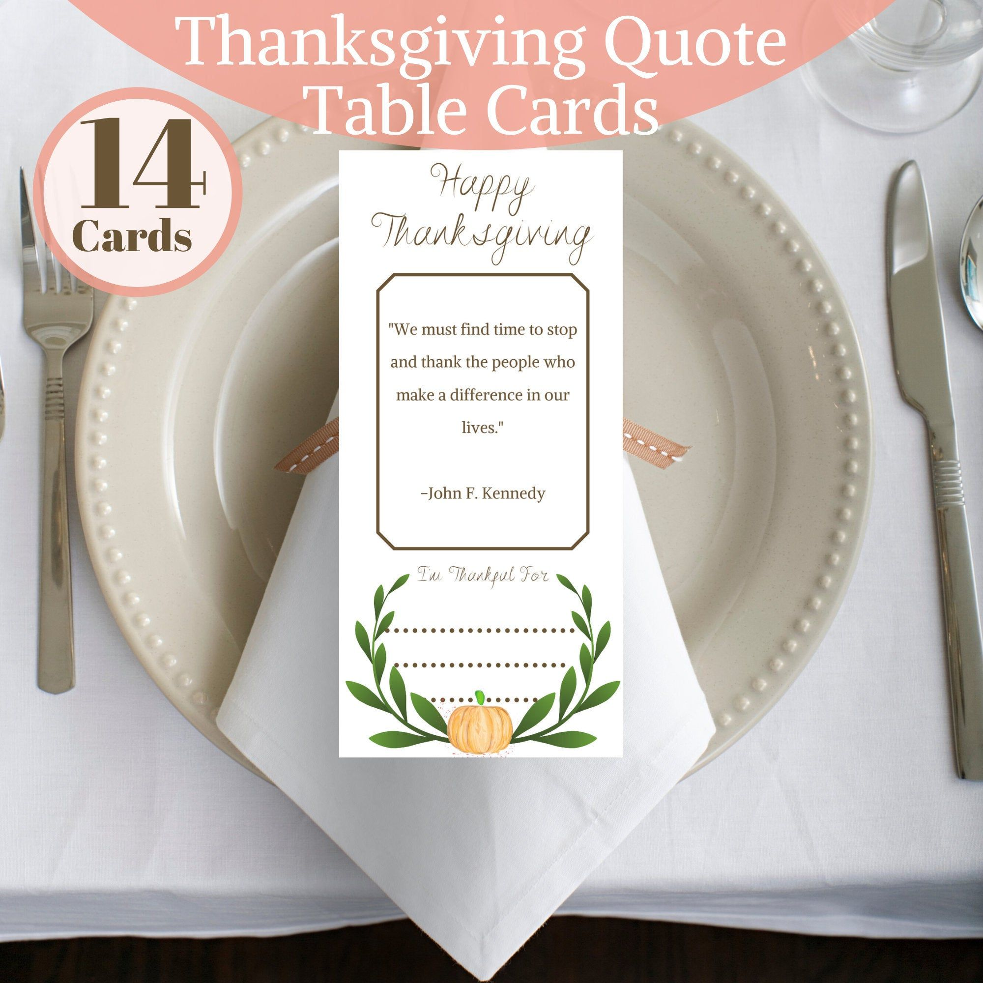 Thanksgiving Table Card Printable,Thanksgiving Dinner Place Card Template,Thanksgiving Decor,Place Setting Cards,Table Setting