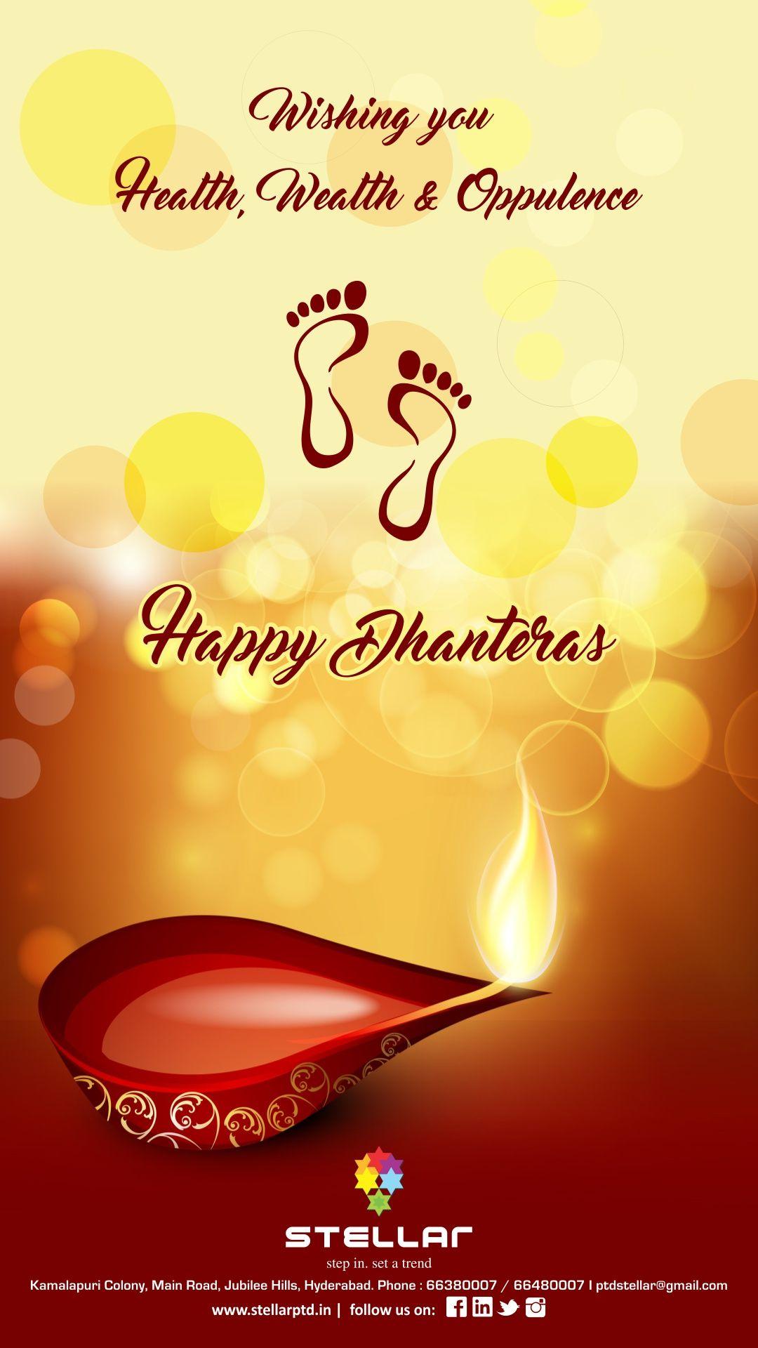 Wishes Everyone Happy Dhanteras Seasonal Greetings Pinterest