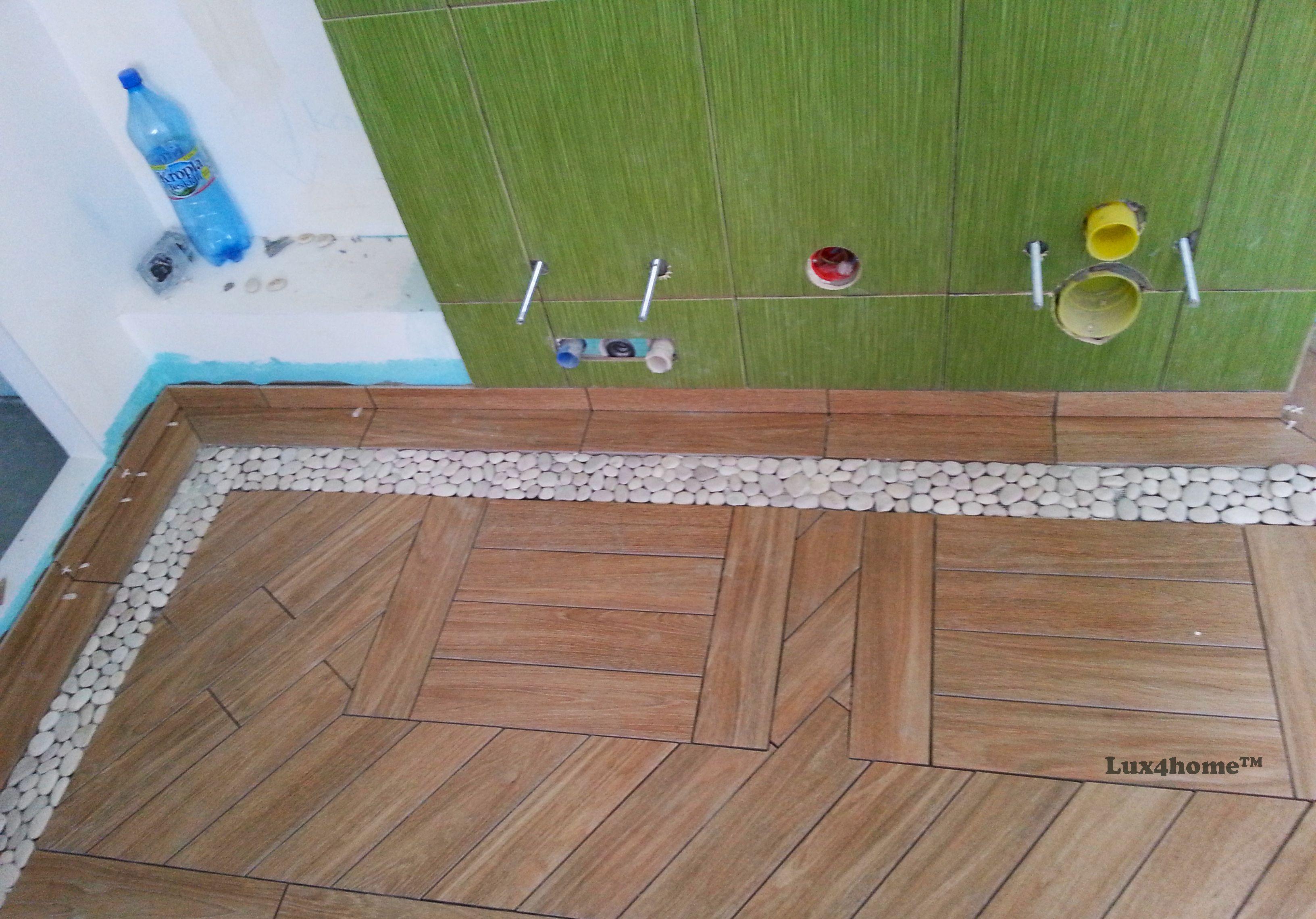 White #Pebble Tiles #Bathroom Ideas - Pebble Tile #Bathtub. We are ...