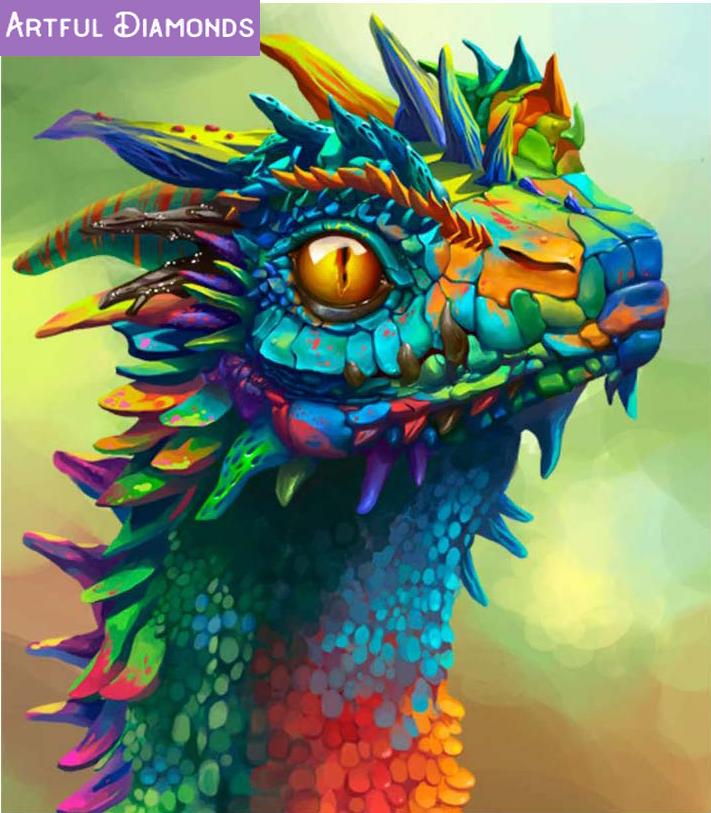 Large Dragon 5D Diy Diamond Painting Kits Full Drill Decor Canvas Cross Stitch