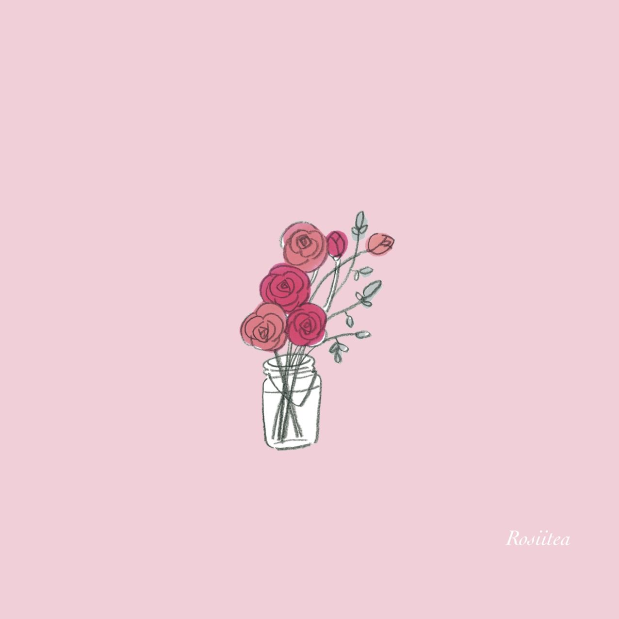 Image result for cute pink esthetic flower