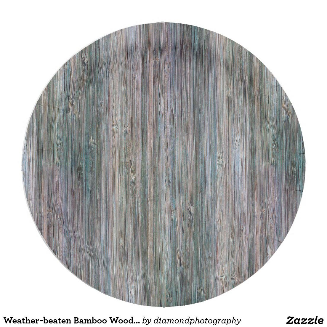 Weather-beaten Bamboo Wood Grain Look Paper Plate  sc 1 st  Pinterest & Weather-beaten Bamboo Wood Grain Look Paper Plate | Wood grain