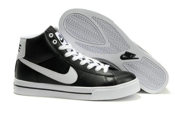 92a13ffa Nike Sweet Classic Leather Black White High Tops | Shoes | White ...