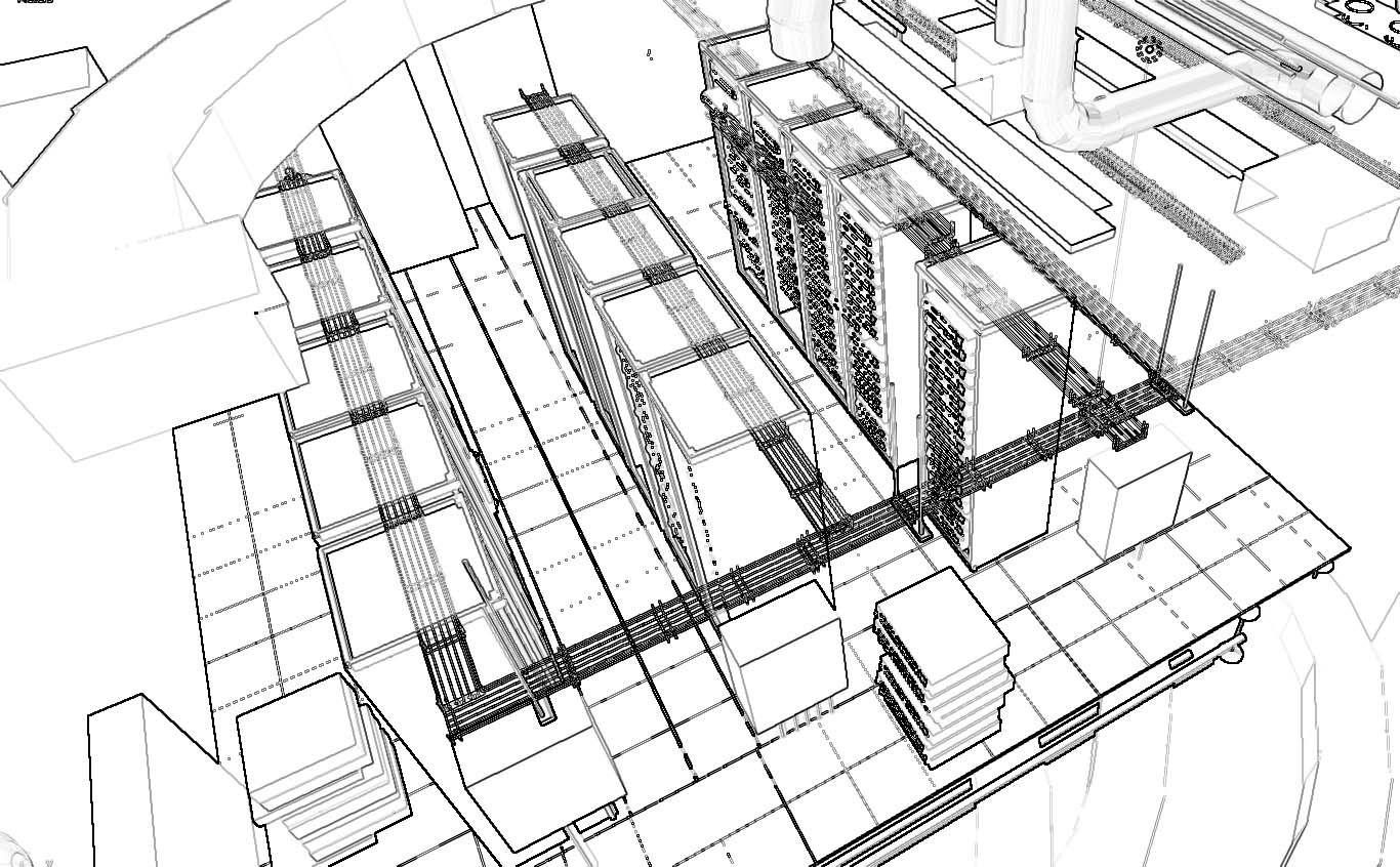 Vista Aerea Sala De Racks Diseno Basico Datacenter Wws Ddc
