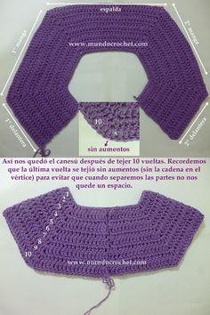 Como tejer un saco, campera, cardigan o chambrita a crochet o ganchillo desde el canesu08