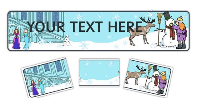 NEW * Winter Fairytale Editable Display Banner - twinkl ...
