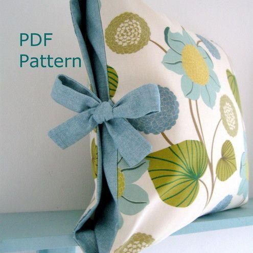 PDF patrón de costura de contraste fundas de colchón atado