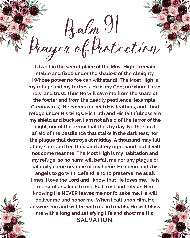 Psalm 91-Prayer of Protection