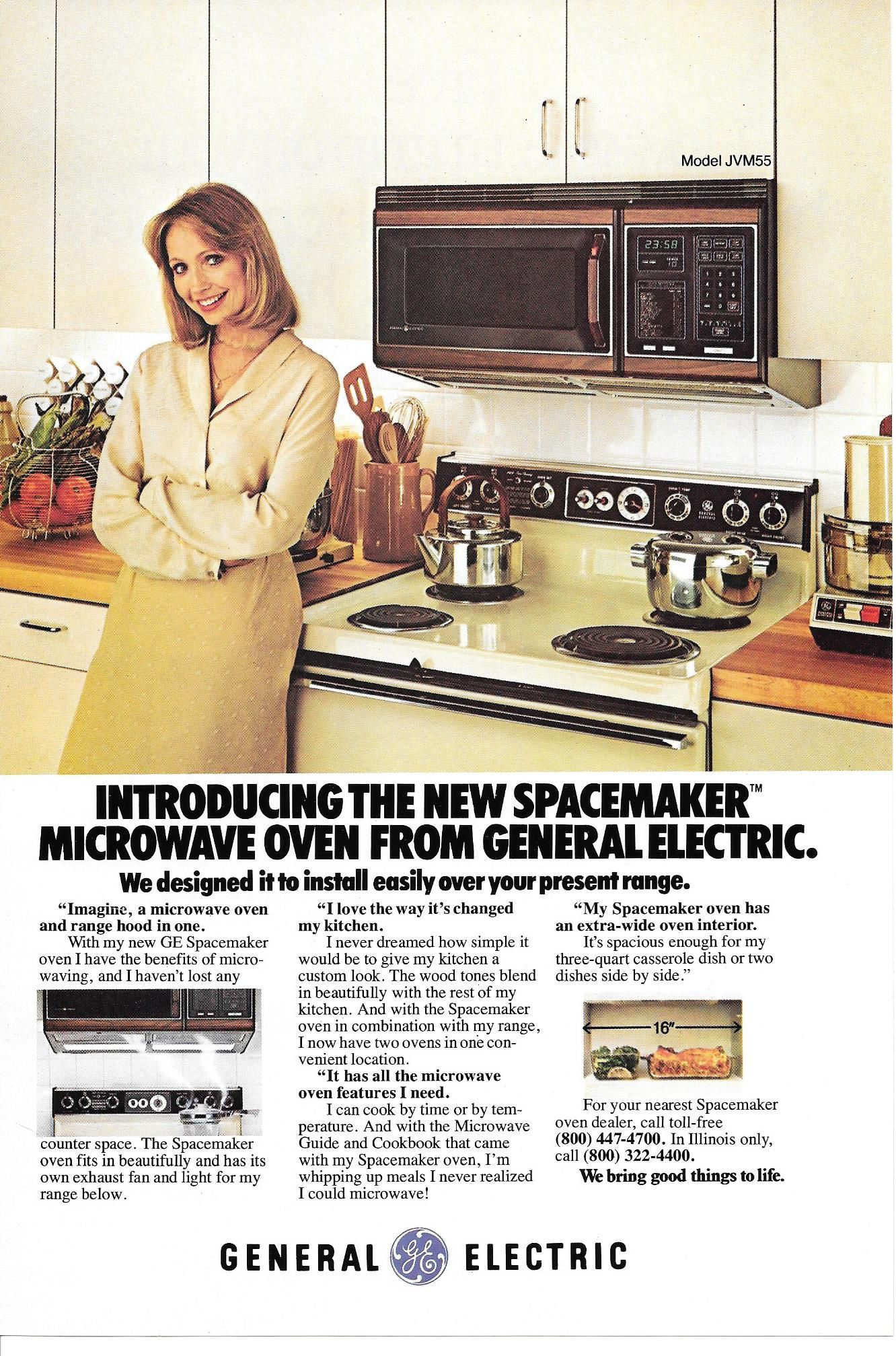 Ge Spacemaker Microwave 1980 Ge Spacemaker Microwave General