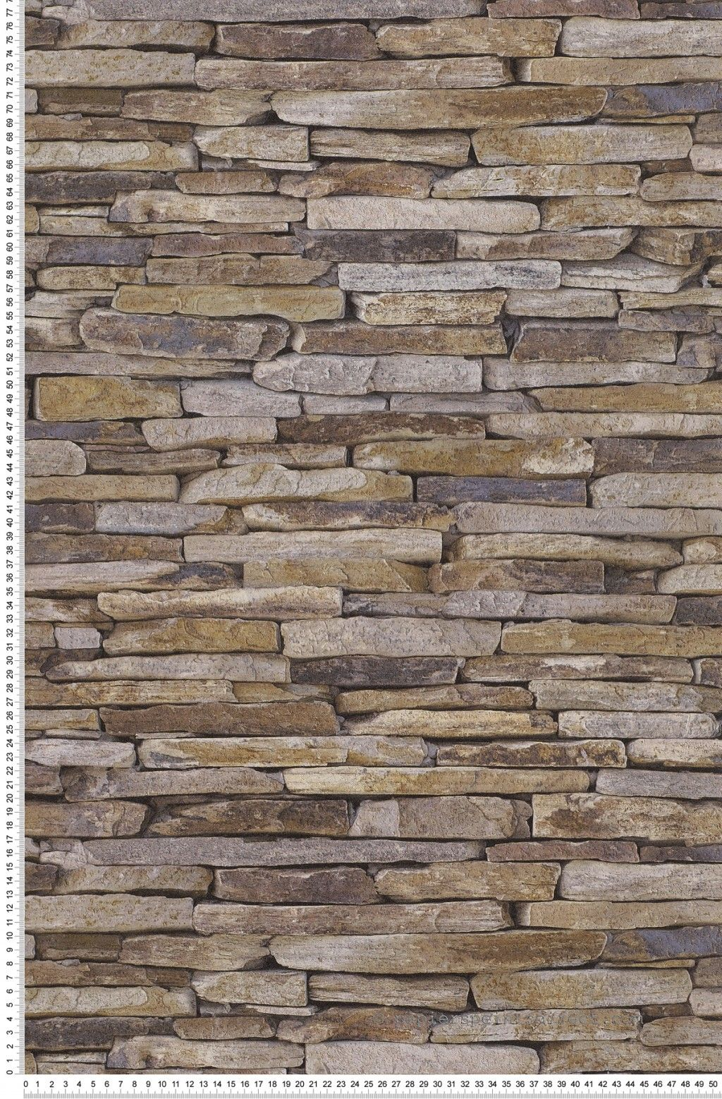 Papier Peint Pierres Plaquette De Parement Stone Wallpaper Grey